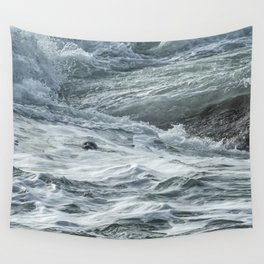 Staying Afloat in a World of Turmoil Wall Tapestry
