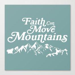 Retro Faith can Move Mountains Canvas Print