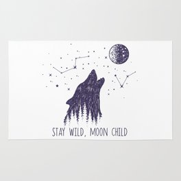 Stay Wild, Moon Child Rug