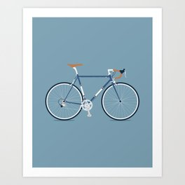 My Bike Dark Blue Art Print