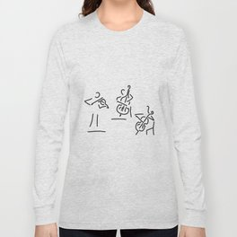 violinist cellist string player contrabass Long Sleeve T-shirt