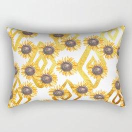 Golden Sunflowers Rectangular Pillow