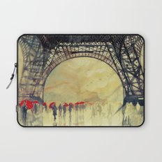 Winter in Paris Laptop Sleeve