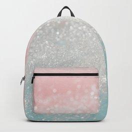 Cute Glitter, Pink and Teal, Unicorn and Mermaid Art Backpack