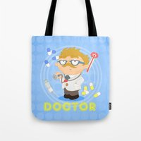 doctor Tote Bags featuring Doctor by Alapapaju