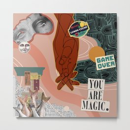 You Are Magic Collage Metal Print