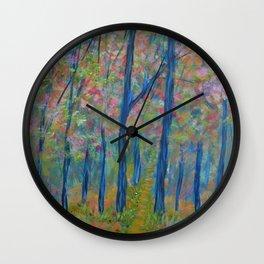 Impressionism Tree Forest, Modern Home Decor, Tree Art Wall Clock