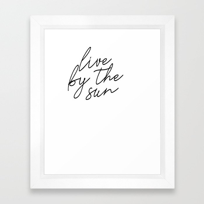 live by the sun love by the moon (1 of 2) Framed Art Print