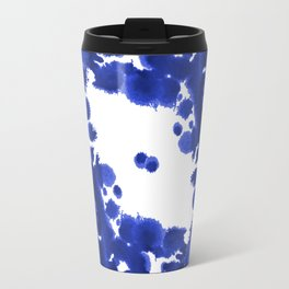 Blue Circle abstract painting enso minimal modern home office dorm college decor Travel Mug