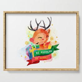 Be Rudolph Serving Tray