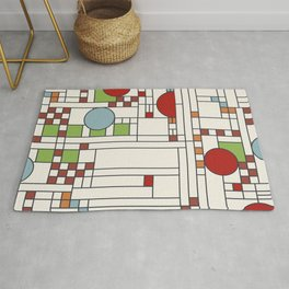 Stained glass pattern S02 Rug