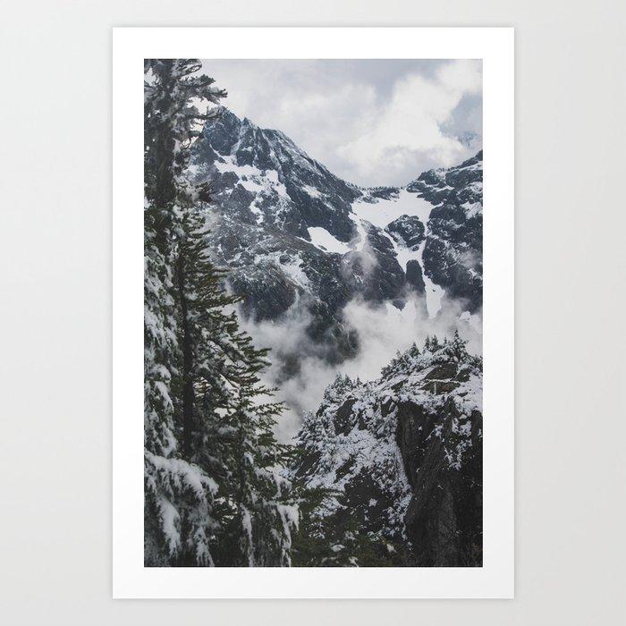 Breathing Mountains Art Print