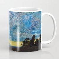 battlestar galactica Mugs featuring Galactica by LightsavoursCorner