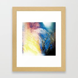 Joshua Tree On Fire Framed Art Print