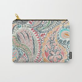 Printed Paisley Carry-All Pouch