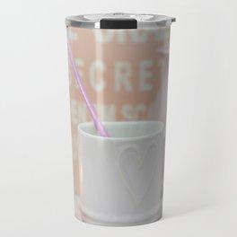 Pastel Pink Scandi-chic Still Life Travel Mug