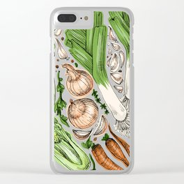 Vegetables Clear iPhone Case