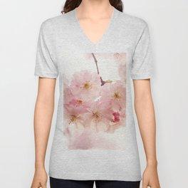 cherry blossoms- In memory Unisex V-Neck