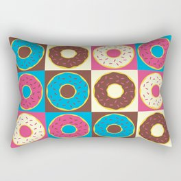 Mixed Dozen Donuts Rectangular Pillow