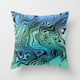 Liquid #9 Throw Pillow