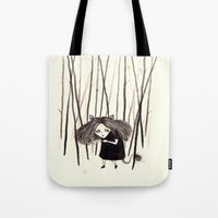 into the wild Tote Bags featuring wild by Soju Shots
