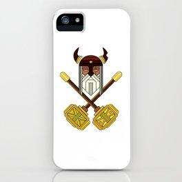 Golden Viking Minimal Art iPhone Case