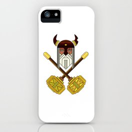 Golden Viking Minimal Art iPhone Case