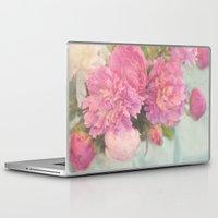 peonies Laptop & iPad Skins featuring Peonies by Lisa Argyropoulos