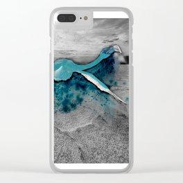 desert flamingo Clear iPhone Case