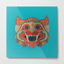 Paper Mask Metal Print