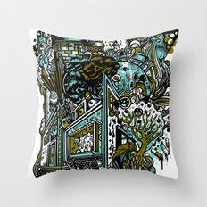 The Castle Of Doom and Sugar Throw Pillow
