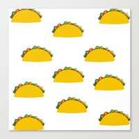 taco Canvas Prints featuring Taco  by Beautiful Artworks