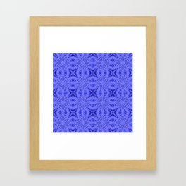 Blue Flower Cross Floral Pattern Framed Art Print