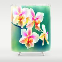 orchid Shower Curtains featuring orchid by haroulita