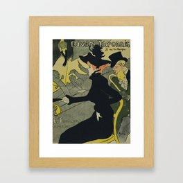 Henri De Toulouse Lautrec - Divan Japonais Framed Art Print