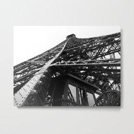 Eiffel Tilt Metal Print