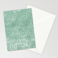 Sparkling Mint Confetti Faux Glitter Stationery Cards