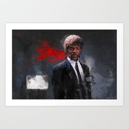 Jules Winnfield Witnesses A Miracle - Pulp Fiction Art Print