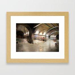 London Skate Park Framed Art Print