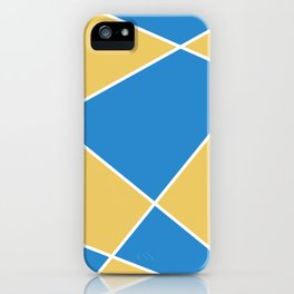 Geometric abstract - orange and blue. iPhone Case