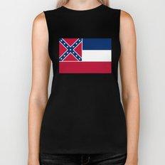 State Flag of Mississippi Biker Tank