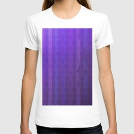 Royal Purple with Distressed Stripes T-shirt
