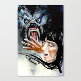 Werewolf Attacking Canvas Print