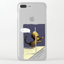 Window Scratching Clear iPhone Case