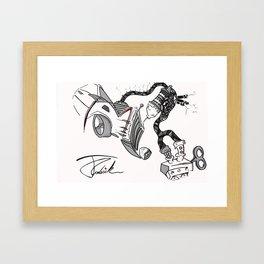 Car2oon Framed Art Print