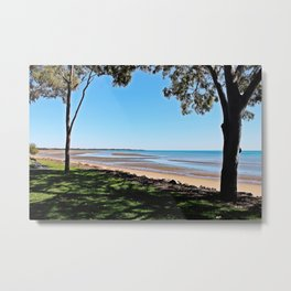 Harvey Bay Board Walk Metal Print
