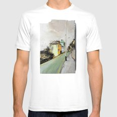 Meanwhile.. Landscape I Mens Fitted Tee White X-LARGE