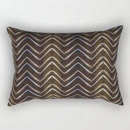 Bone Chevron Rectangular Pillow