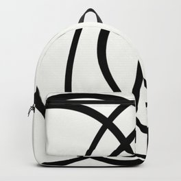 Community - Black and white abstract Backpack