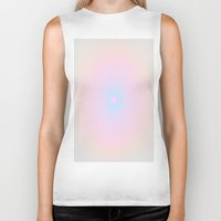 honeycomb Biker Tanks featuring Pink Honeycomb by Brown Eyed Lady